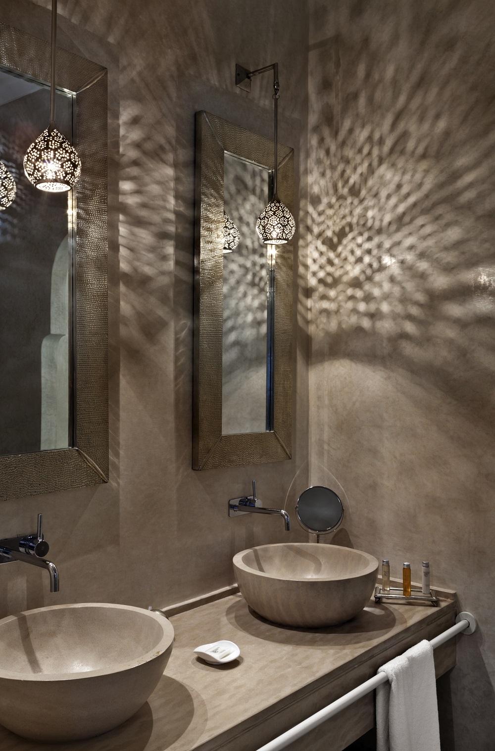 La salle de bain du Riad Nashira.