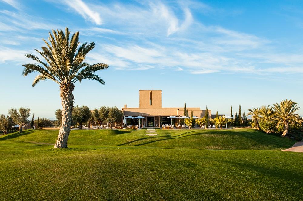 La médina et le palmier du  golf d'Assoufid.