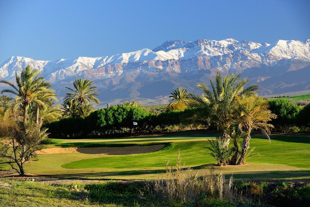 Le paysage du golf d'Assoufid.