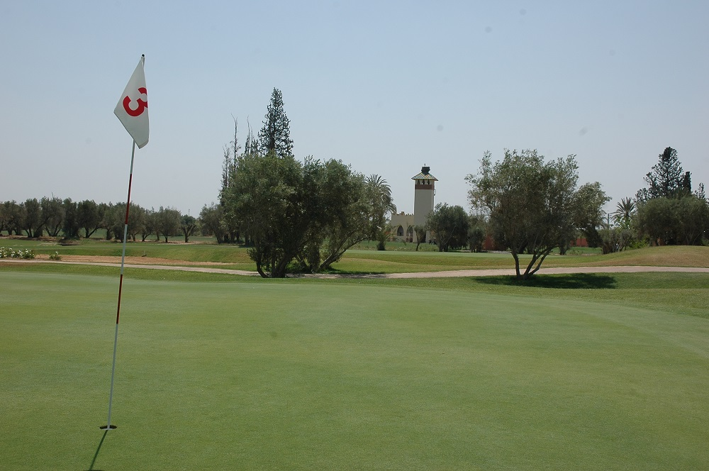 Le drapeau du Golf Royal de Marrakech.