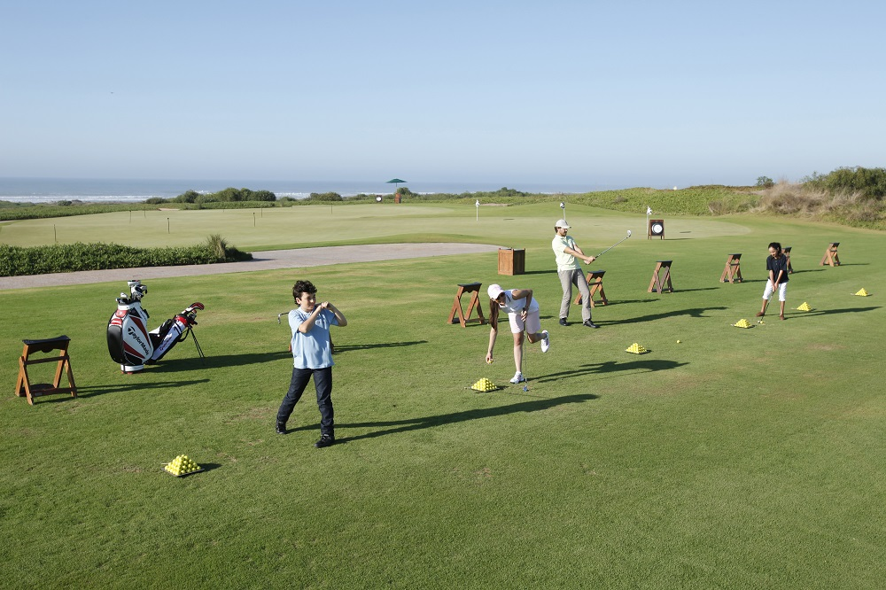 Le practice du golf de Mazagan.