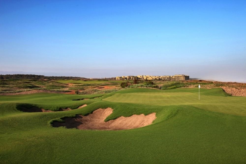 Un green du golf de Mazagan.
