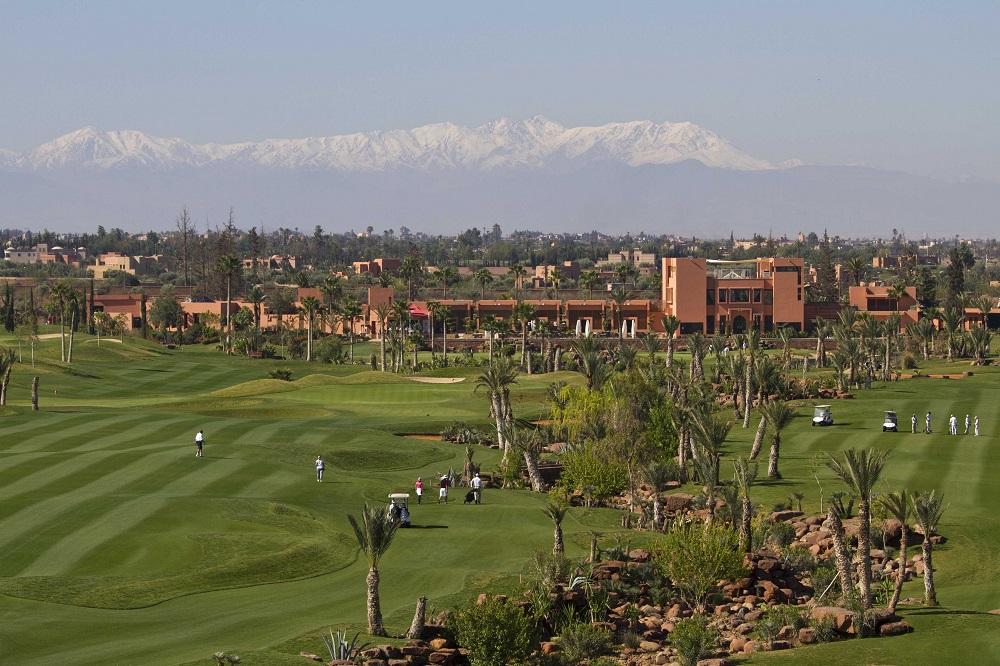 Vue des fairways du golf de l'Atlas.