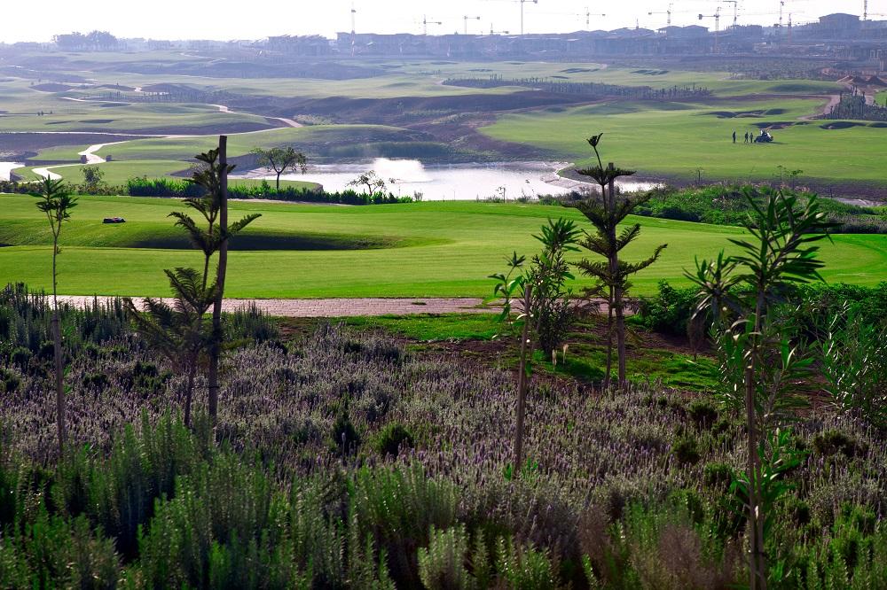 La vue d'ensemble du golf de Casa Green.