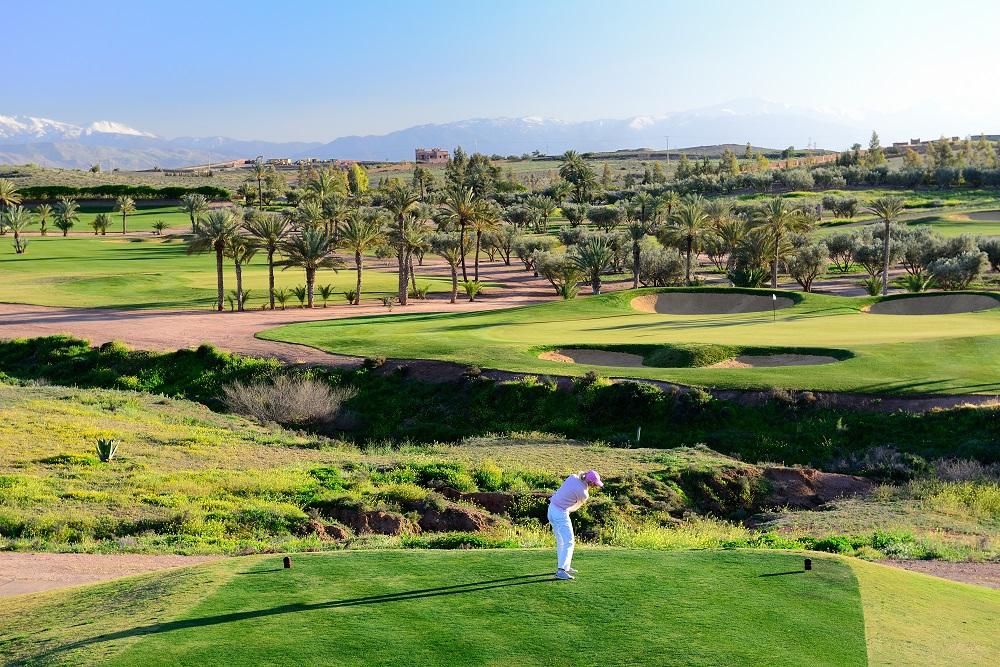 Départ au  golf d'Assoufid.