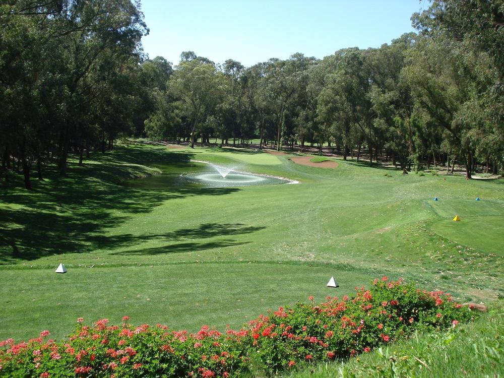 Départ d'un trou du golf d'El Jadida Royal.