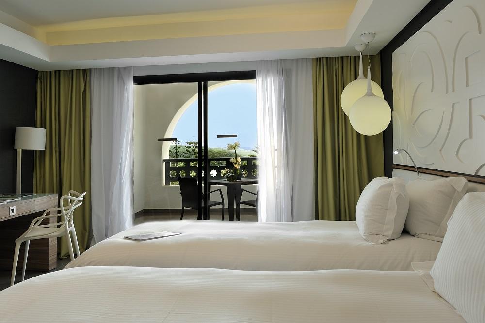 Une chambre de l'hôtel Pullman.