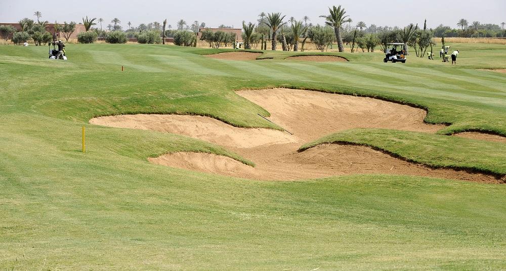 Les bunkers du golf d'Al Maaden.