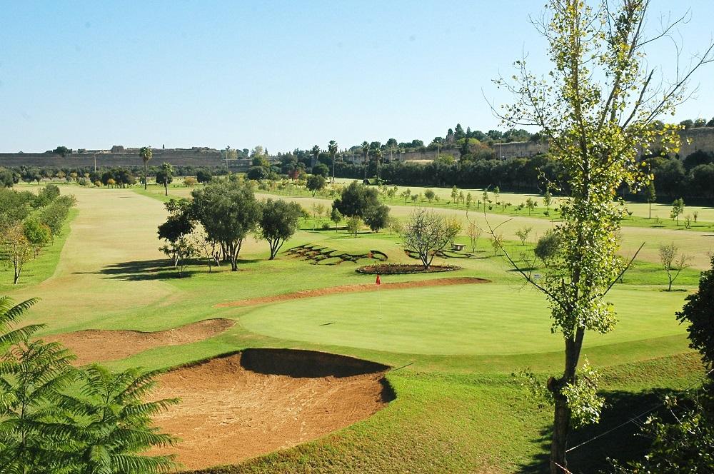 Le green du golf de Mekness.