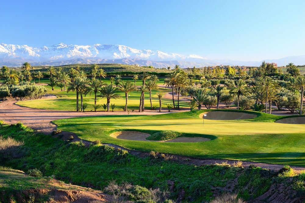 La vue d'ensemble du  golf d'Assoufid.