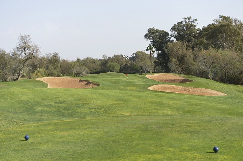 Un départ du golf des dunes.
