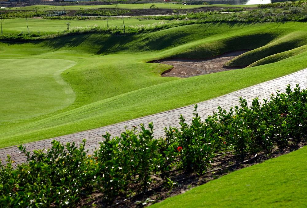Le bord d'un green du golf de Casa Green.