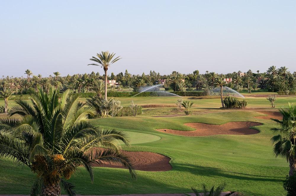 La vue d'ensemble du golf de Palmeraie.