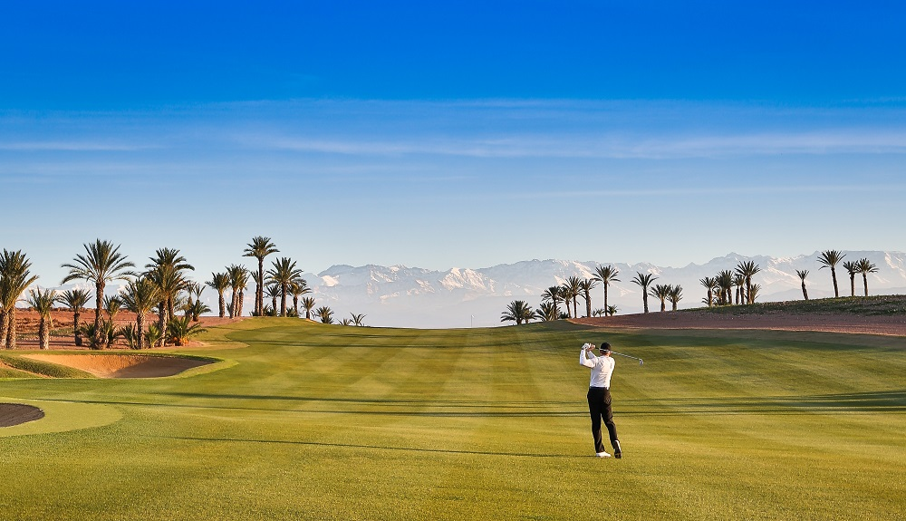 Golfeur au golf d'Assoufid.
