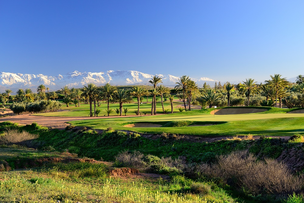 Les roughs dense du  golf d'Assoufid.