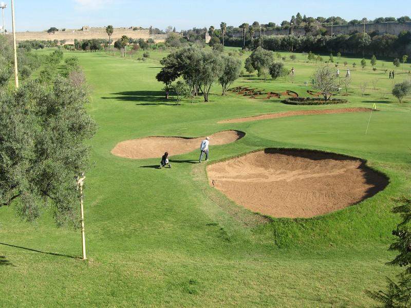Des bunkers du golf de meknes.