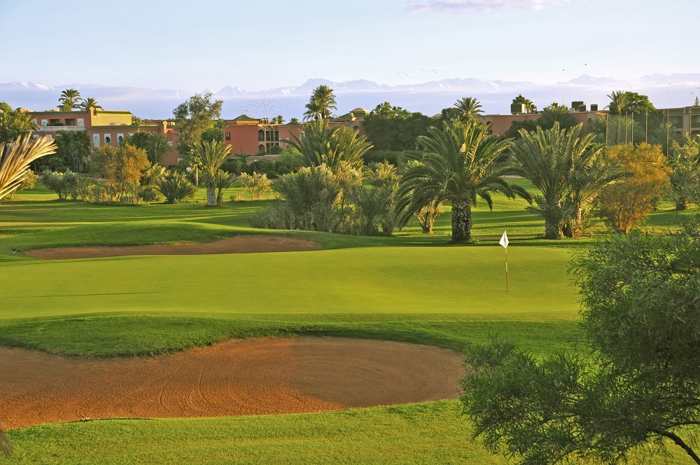Le green du golf de Palmeraie.