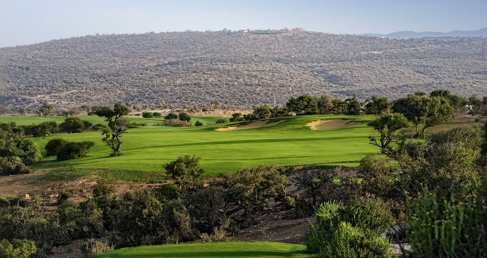 Le panorama du golf du Tazegzout.