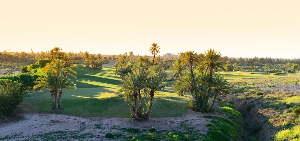 Vue d'hauteur du  golf d'Assoufid.