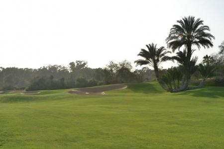 Le fairway du golf des dunes.