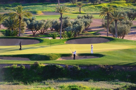 Un green du  golf d'Assoufid.