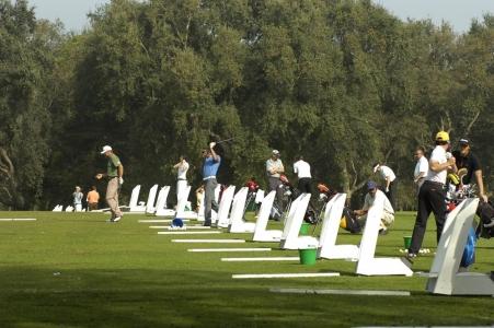 Le practice du golf le Royal Dar Es Salam.