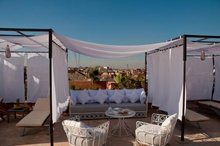 La terrasse de la Riad Nashira.