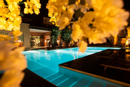 La piscine de l'hôtel le Tikida Beach.