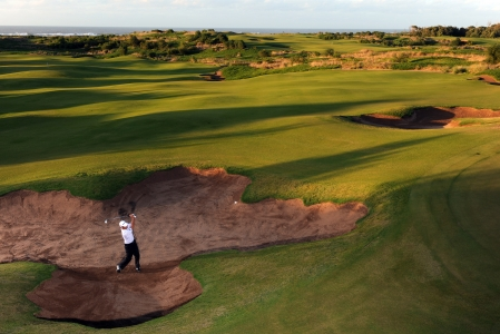 Le bunker du golf de Mazagan.