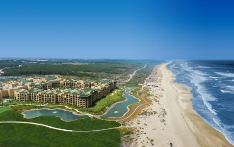 Une vue aérienne du golf de Mazagan.