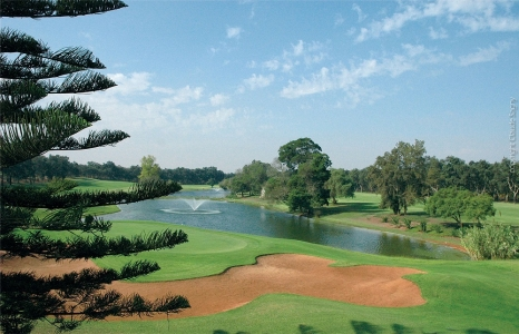 Le bunker et la fontaine du golf Royal Dar Es Salam.