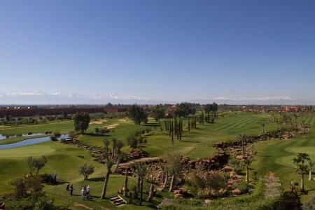 Vue panoramique du golf de l'Atlas.