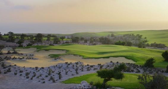 Le bunker du golf de Tazegzout.