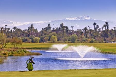 Des fontaines du golf de Palmeraie.