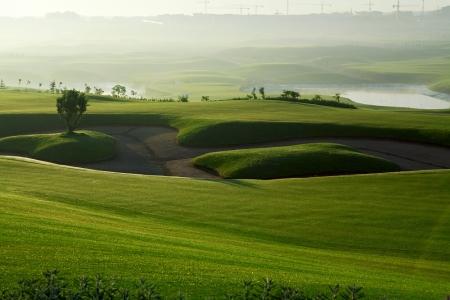 Le bunker et le fairway du golf de Casa Green.