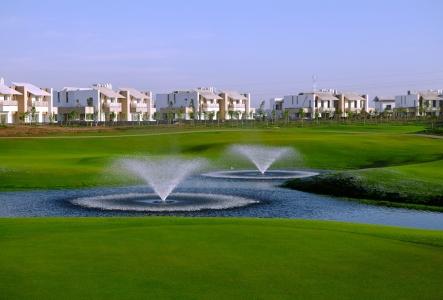 Deux fontaines du golf de Casa Green.