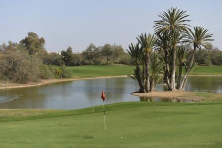 Les greens du golf des dunes.