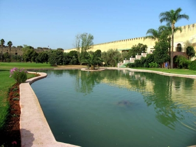Le lagon du golf le Royal de Meknes.
