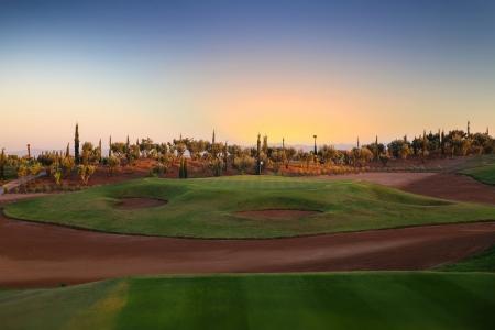Vue du trou 17 au Palm Golf Marrakech Ourika