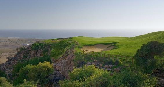 Les falaises du golf de tazegzout.