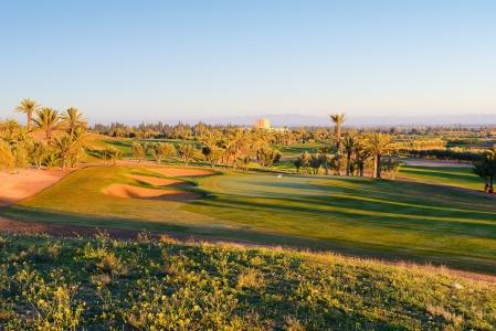Le green d'un trou du  golf d'Assoufid.