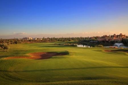 Large green sur le parcours de Golf Palmeraie au Maroc