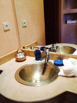 La salle de bain du golf de Samanah.