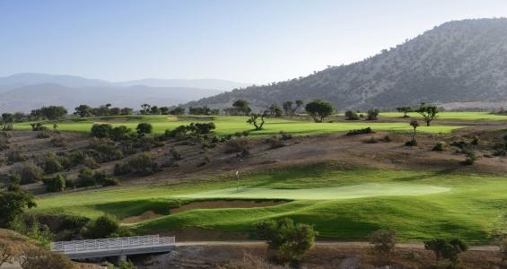 Le paysage du golf de Tazegzout.
