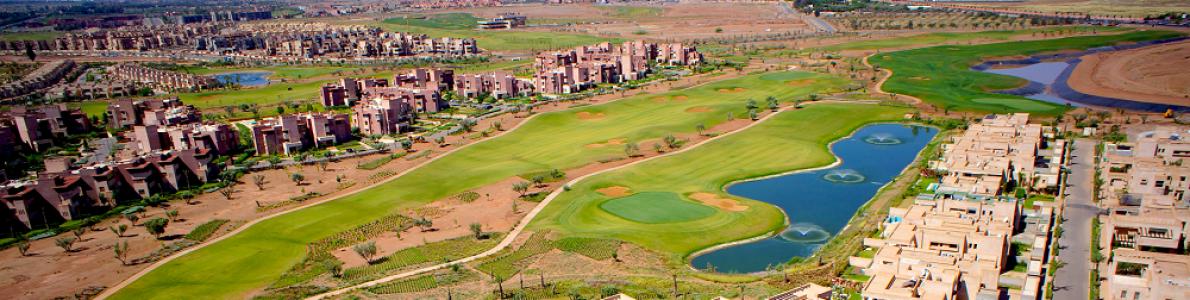 La vue aérienne du golf de Tony Jacklin Casablanca.