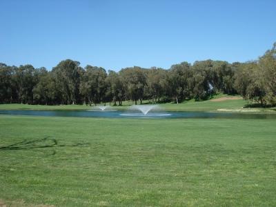 Les fontaines du golf d'El Jadida Royal.