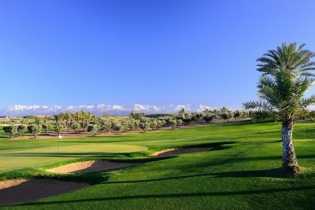 Le fairway à perte de vue du  golf d'Assoufid.