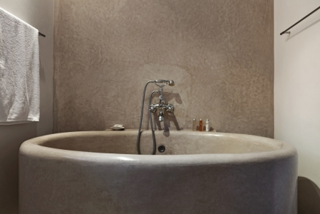 Une salle de bain à la Riad Nashira.