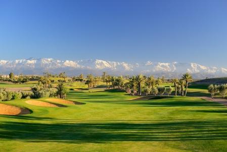 Une vue panoramique du  golf d'Assoufid.