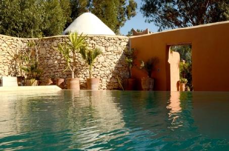 La piscine de l'hôtel de Baoussala.